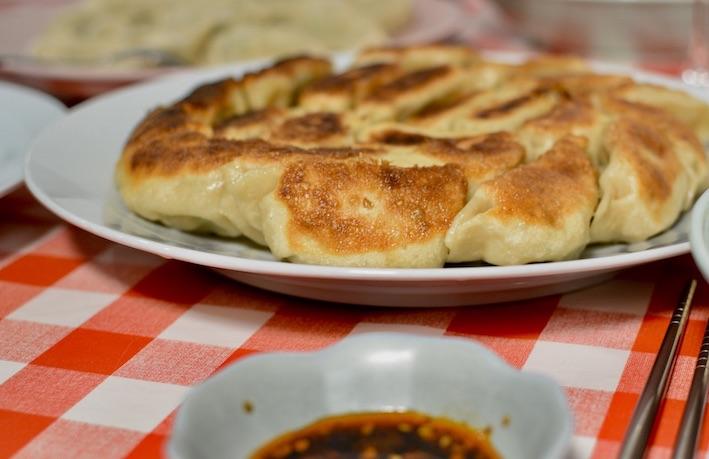 Pan fried jiaozi